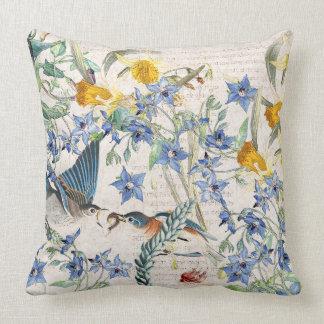 Almohada de tiro floral de la borraja del narciso