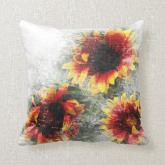 Cojín Decorativo Almohada de tiro floral de los girasoles y de las