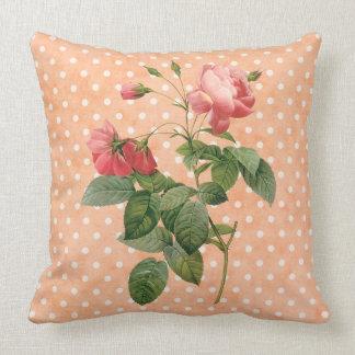 Almohada de tiro floral del vintage del país
