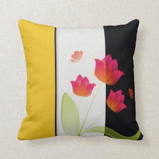 Almohada de tiro hermosa del algodón del tulipán