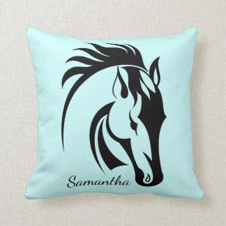 Almohada de tiro hermosa del diseño del caballo