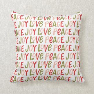 Almohada de tiro indicada con letras del navidad