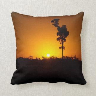 Almohada de tiro - interior puesta del sol