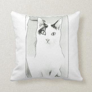 Almohada de tiro linda del bosquejo del gato