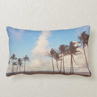 Almohada de tiro lumbar de la palmera de la isla