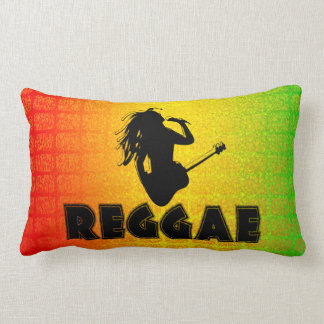 Almohada de tiro lumbar de Rasta Rastafarian MoJo