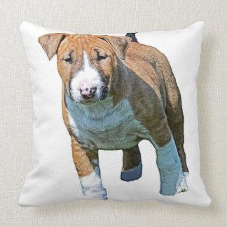 Almohada de tiro maciza de bull terrier del mono