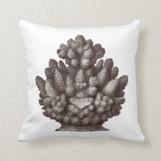 Almohada de tiro náutica coralina de la decoración