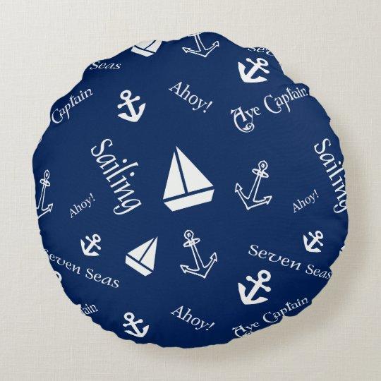 Almohada de tiro náutica del tema de la navegación