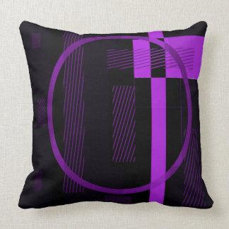 Almohada de tiro negra púrpura - de doble cara