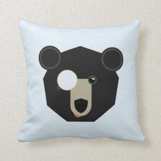 Almohada de tiro - oso del monóculo - geométrica
