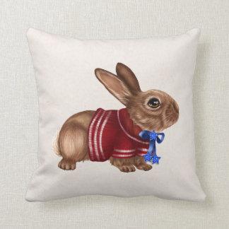 Almohada de tiro patriótica del conejo