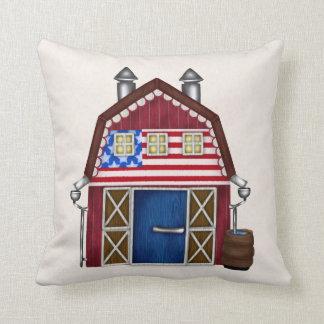 Almohada de tiro patriótica del granero