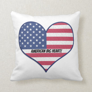 Almohada de tiro personalizada corazón grande