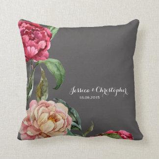 Almohada de tiro personalizada floral bohemia del