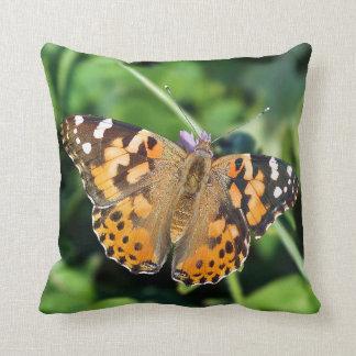 Almohada de tiro pintada de señora Butterfly