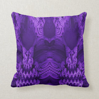 almohada de tiro púrpura de la ilusión