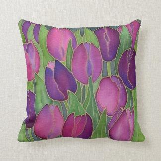 Almohada de tiro púrpura del diseño de los