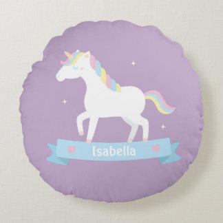 Almohada de tiro púrpura del unicornio de los