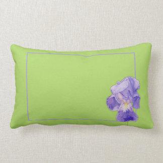 Almohada de tiro púrpura del verde del iris