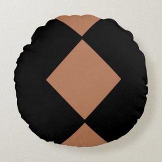 Almohada de tiro redonda cepillada DIAMANTE del