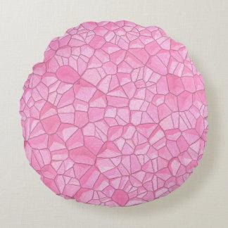 """Almohada de tiro redonda cristalina rosada (16"""")"""
