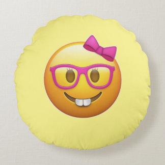 Almohada de tiro redonda de Emoji de los vidrios