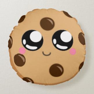 """almohada de tiro redonda de la galleta linda (16"""")"""