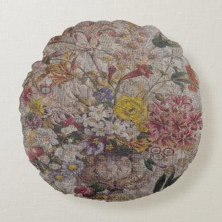 Almohada de tiro redonda de las materias textiles