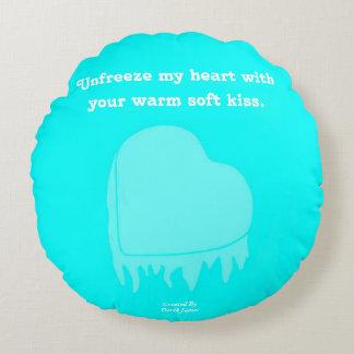 Almohada de tiro redonda del corazón congelado cojín redondo