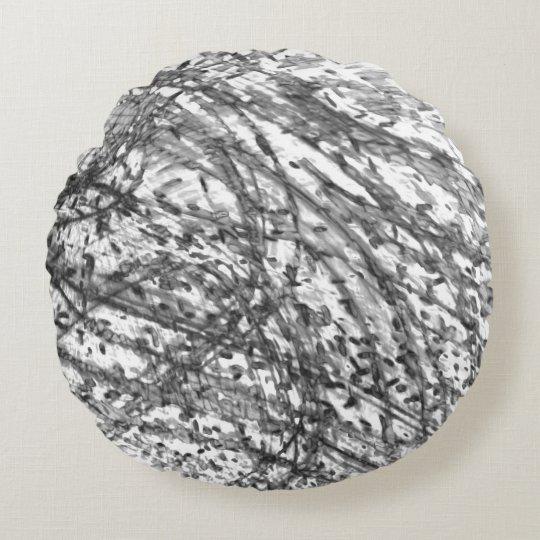 Almohada de tiro redonda del lavado de la tinta de cojín redondo
