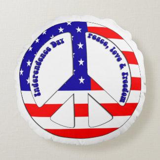 Almohada de tiro redonda del signo de la paz de la cojín redondo