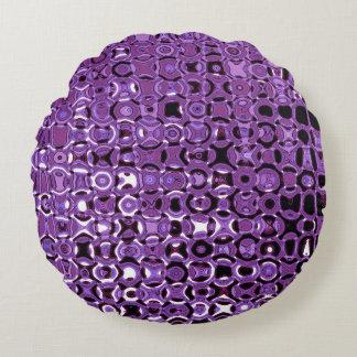 Almohada de tiro redonda del vórtice violeta