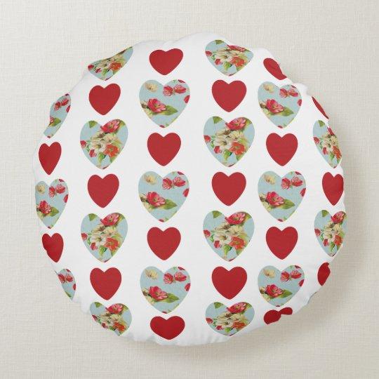 Almohada de tiro redonda floral de la almohada de cojín redondo