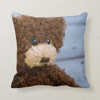 Almohada de tiro rizada del oso de peluche de