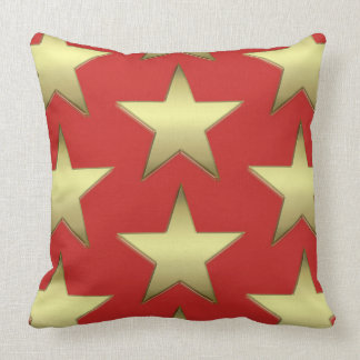 Almohada de tiro roja de la estrella del oro
