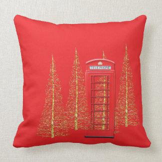 Almohada de tiro roja de los árboles del oro de la cojín decorativo