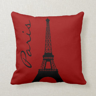 Almohada de tiro roja de París de la torre Eiffel