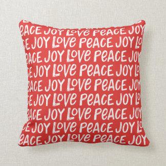 Almohada de tiro roja del navidad de la paz