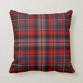 Almohada de tiro roja del tartán