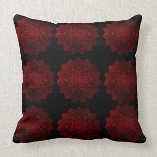 Almohada de tiro roja y negra