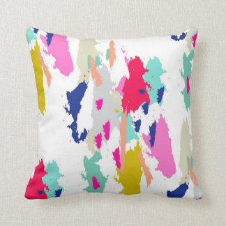 Almohada de tiro rosada azulverde gráfica moderna