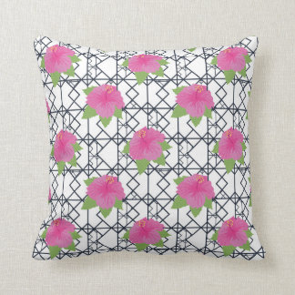 Almohada de tiro rosada blanca negra moderna del