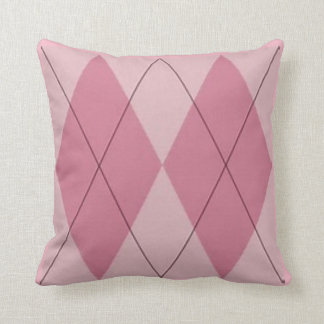 Almohada de tiro rosada de Argyle