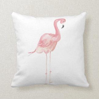 Almohada de tiro rosada del flamenco de la