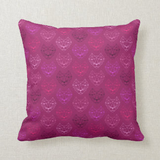 Almohada de tiro rosada del modelo de los gatos