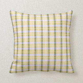 Almohada de tiro - tela escocesa de bambú