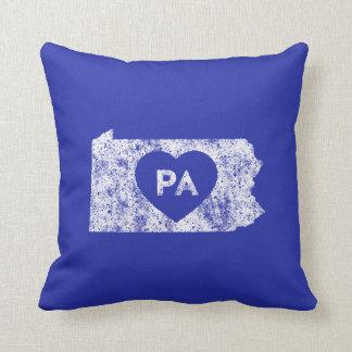 Almohada de tiro usada del estado de Pennsylvania