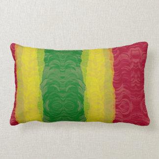 Almohada de tiro, verde amarillo rojo abstracto de