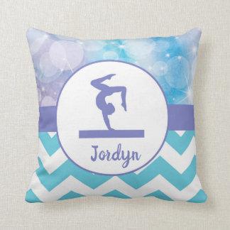 Almohada de tiro verde azulada púrpura de la